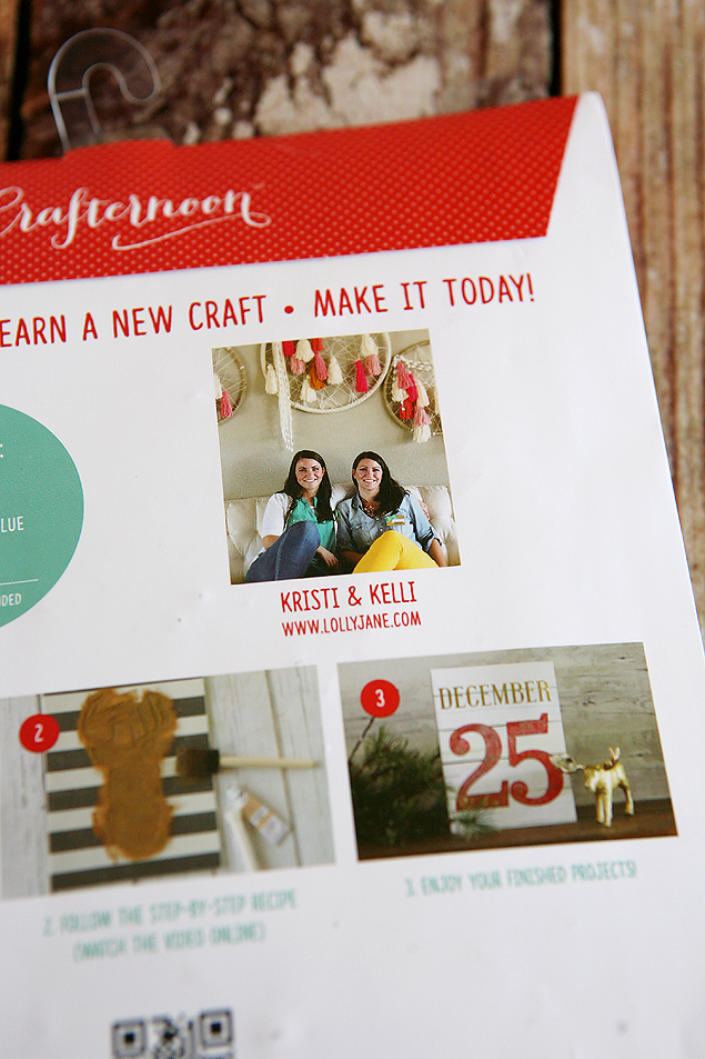 Holiday Stenciled Gallery Art. Kit by Lolly Jane for Hazel and Ruby.Too fun!