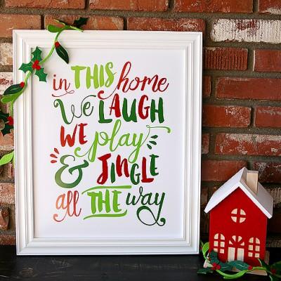 Free Jingle All the Way Prints