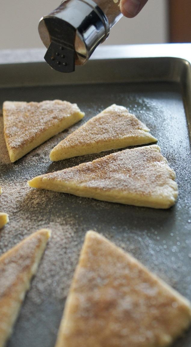 Baking Cinnamon Sugar Scones