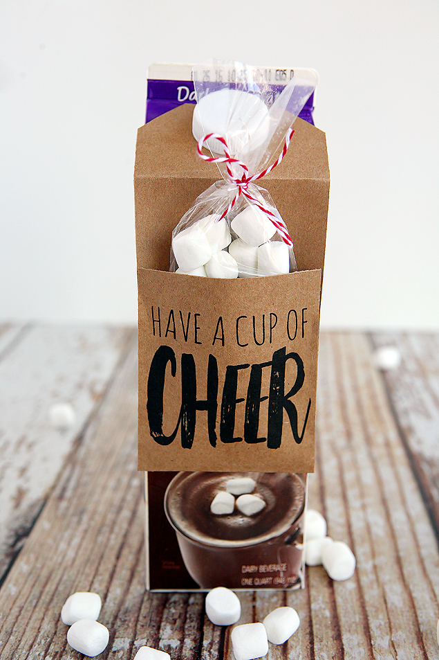 Have A Cup Of Cheer Gift Idea. Great idea for Christmas gifts for neighbors and friends!
