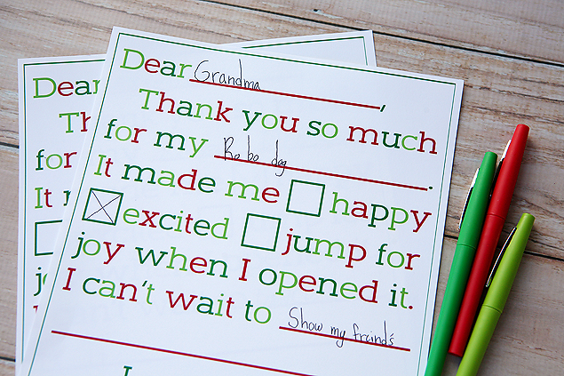 simple thank you letters