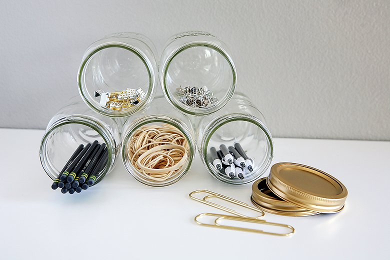 Mason Jar Organizer | Organizing Tips