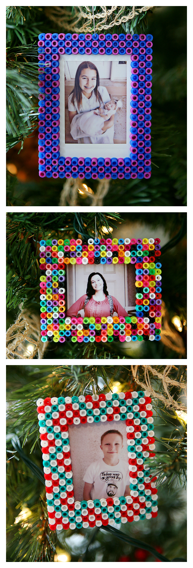 Perler Bead Christmas Ornaments | Ornaments kids can make