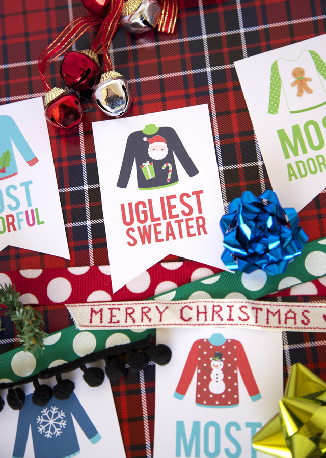 Superb Christmas Party Award Ideas Part - 12: Free Printable - Ugly Sweater Christmas Party Awards