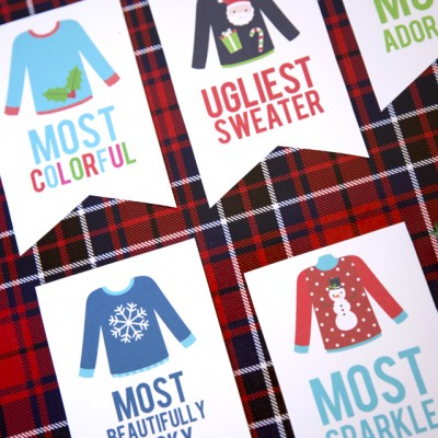Ugly Sweater Christmas Party Awards