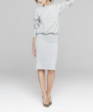 Gray Blouson Dress