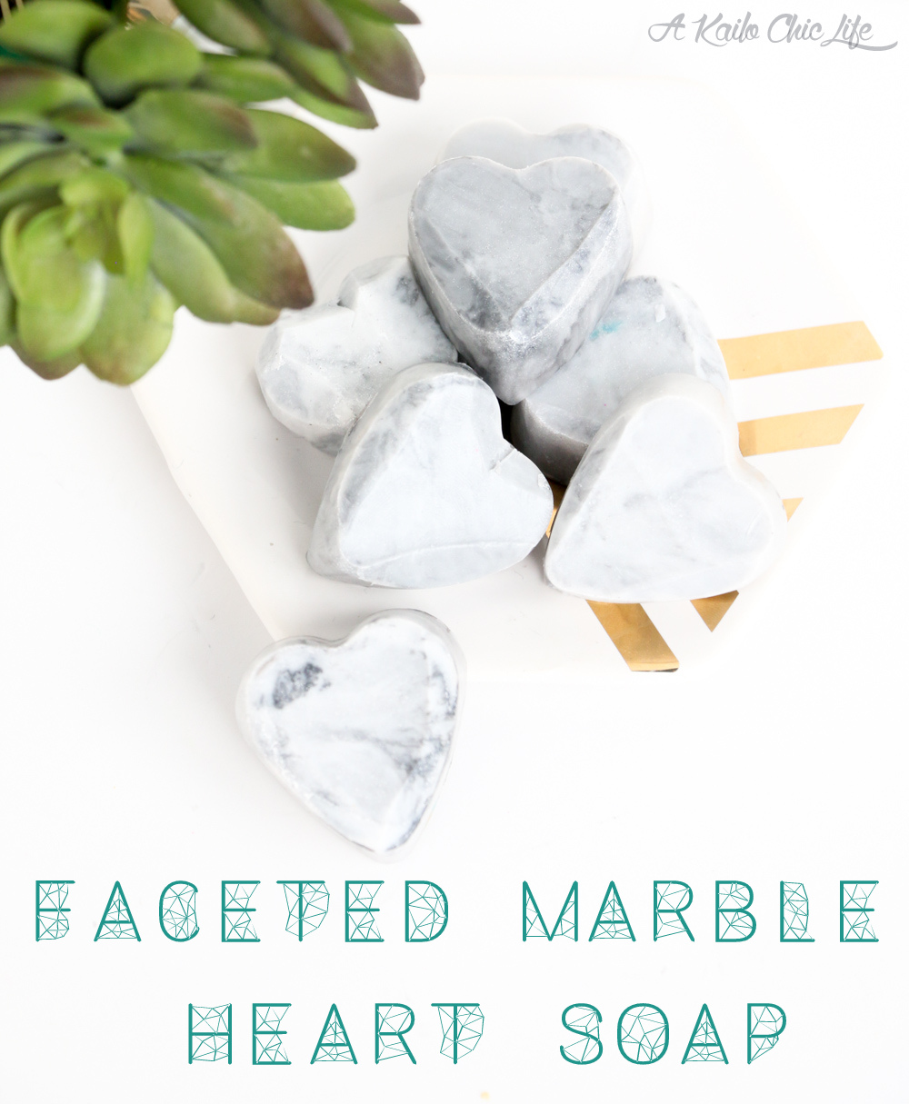 Faceted Marble Heart Soap