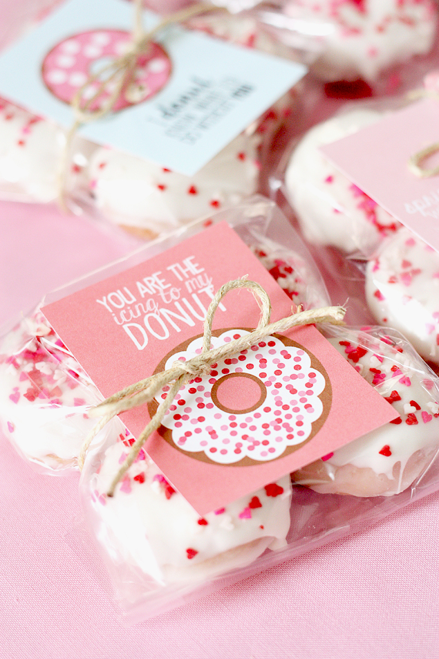 The cutest Valentine Donut Printables!