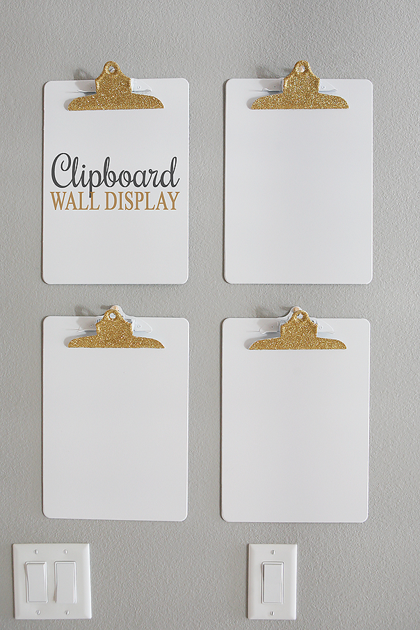 Clipboard Wall Display | Fun and Inexpensive way to display kids artwork or even your to-do list!