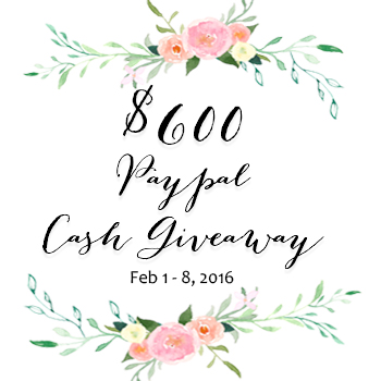 $600 Paypal Giveaway!!
