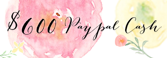 $600 Paypal Cash Giveaway! Easy Entry.
