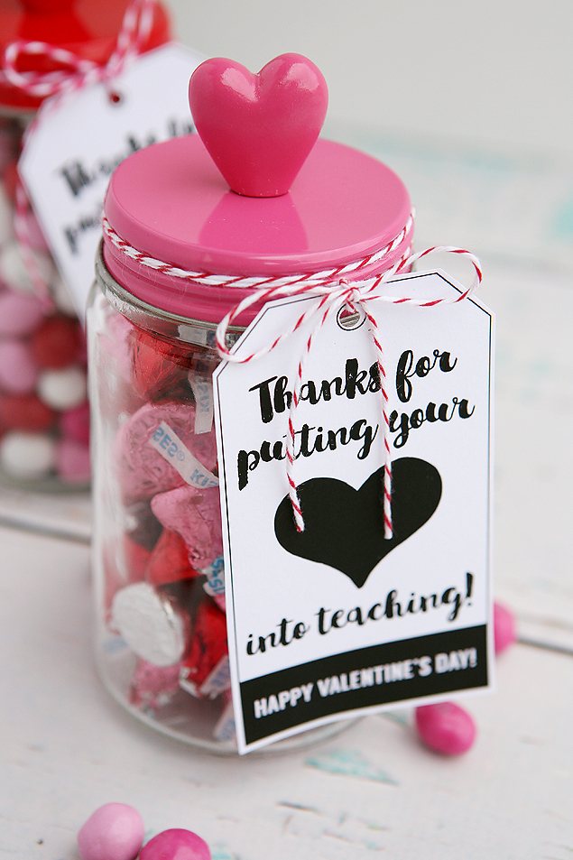 Thanks For Putting You Heart Into Teaching Teacher Gift Idea For Valentines Day
