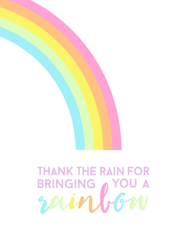 Thank the Rain | Inspirational Free Printable