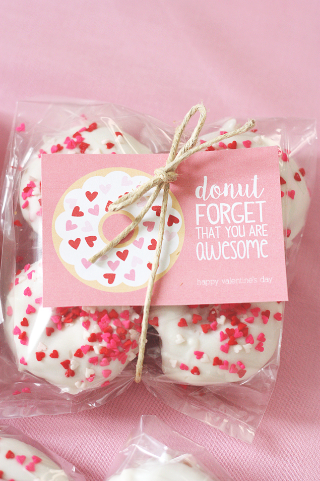 Valentine Donut Printables - Eighteen25