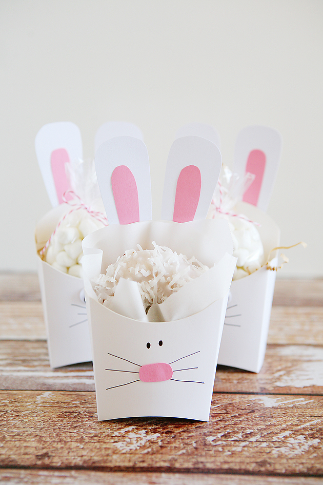Fry Box Bunnies - Easter Treat Boxes