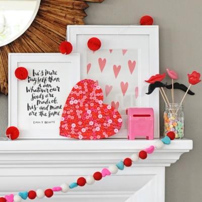 Valentine's Day Button Heart