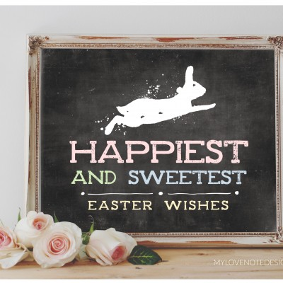 Free Printable Easter Wishes Art