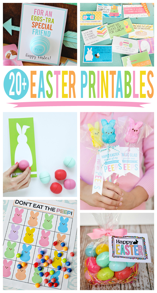 Over 20 Super Cute Easter Printables | Free Easter Printables