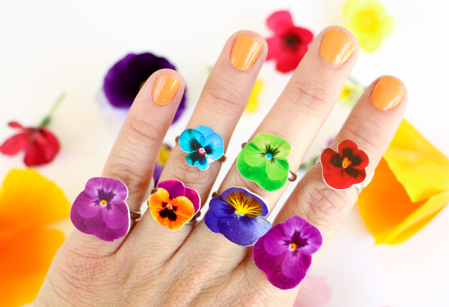 Diy Shrinky Dinks Flower Rings Eighteen25