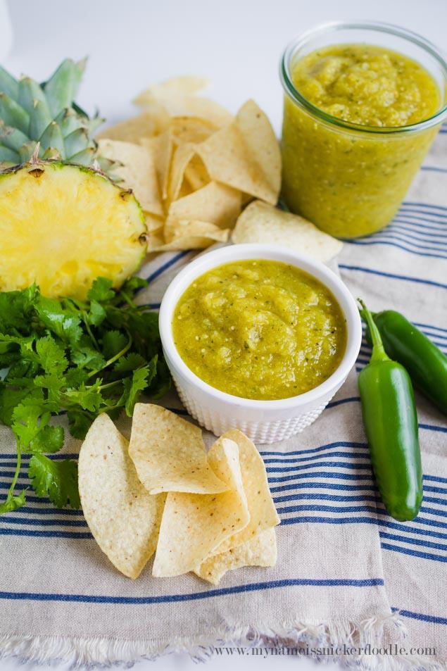 Pineapple Tomatillo Salsa | Homemade Salsa Recipe