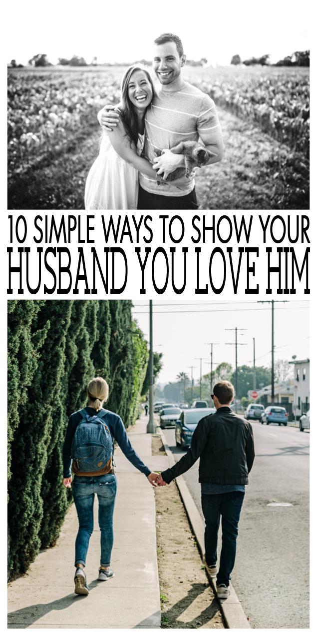 Show husband you love him