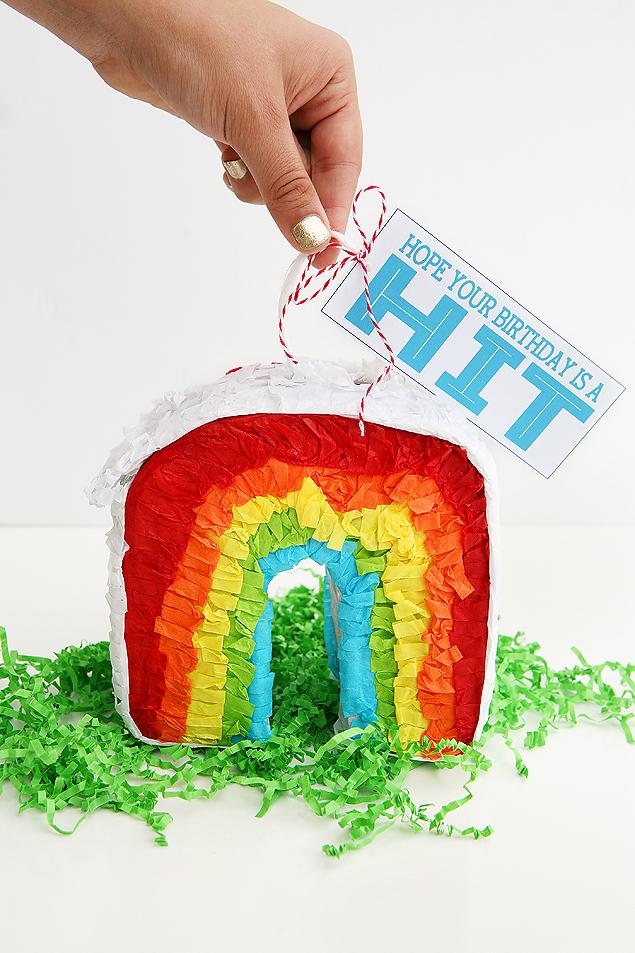 Mini Pinata Birthday Gift Ideas | With Free Printable Tags