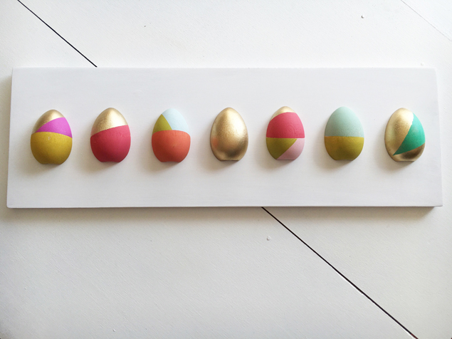 DIY Modern Color Block Egg Sign | Easter Decoration