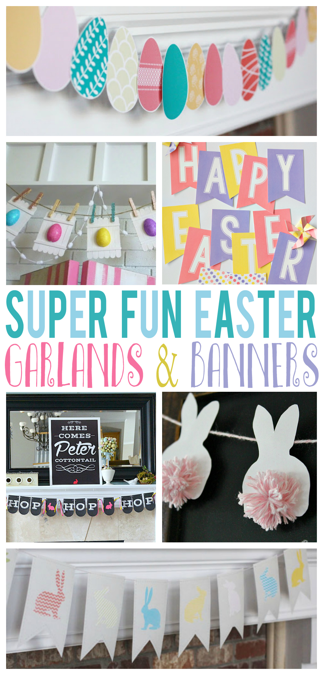Super Fun Easter Garlands and Banners | Easter Decorating Ideas
