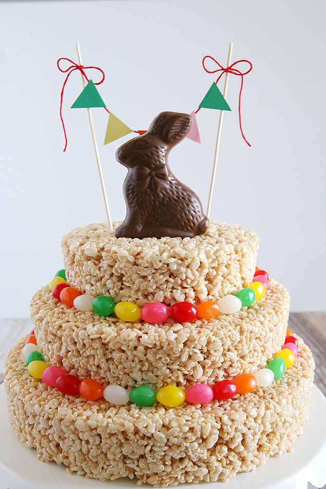 Easter Rice Crispy Treats Cake | Make this awesome cake in about an hour!!
