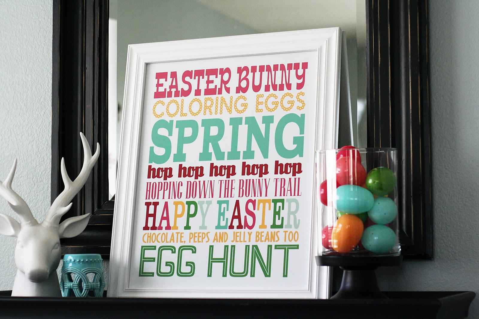 Easter Subway Art | Free Easter Printables