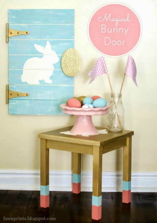 Magical Easter Bunny Door