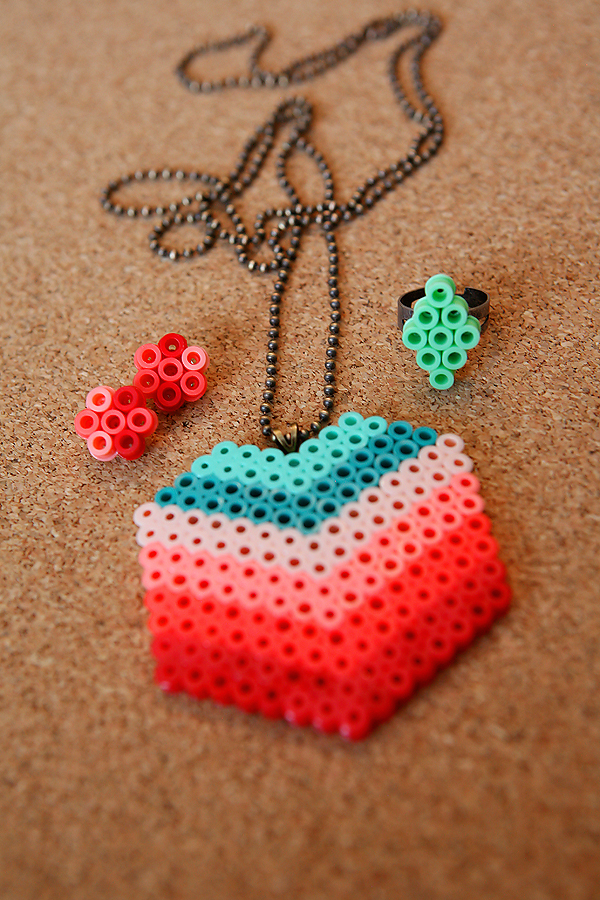 perler beads jewelry