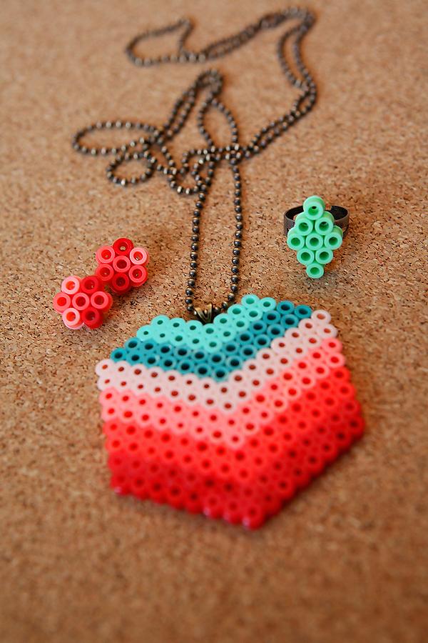 perler beads jewelry
