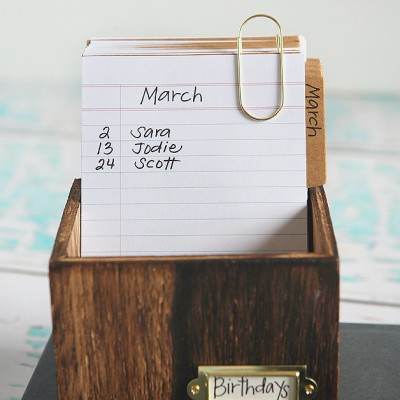 Birthday Reminder Desktop Calendar