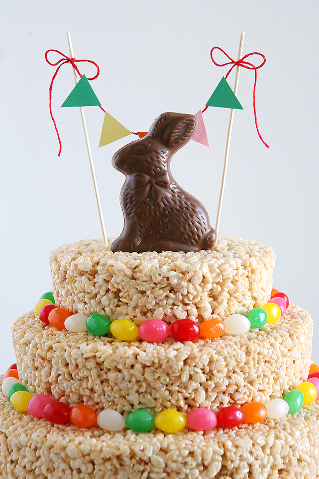 Easter Rice Krispies Treats Cake | Make this awesome cake in about an hour!!
