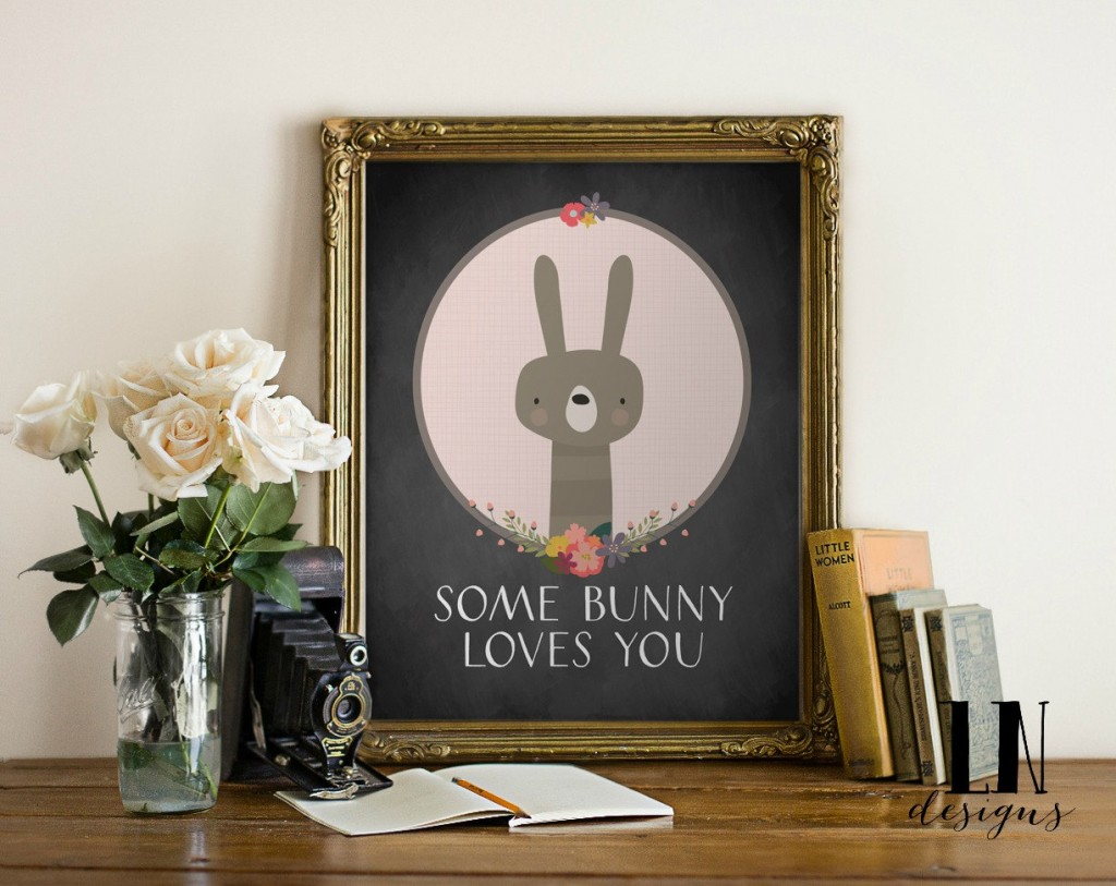 Some Bunny Loves You | Free Easter Print