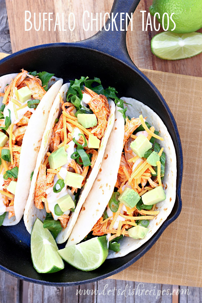 Buffalo Chicken Tacos from Let's Dish Recipes