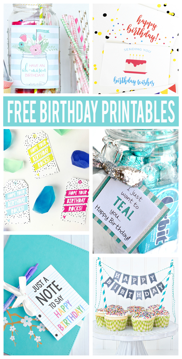 Free Printable Birthday Cards Fun Gift Ideas With Tags And Many More