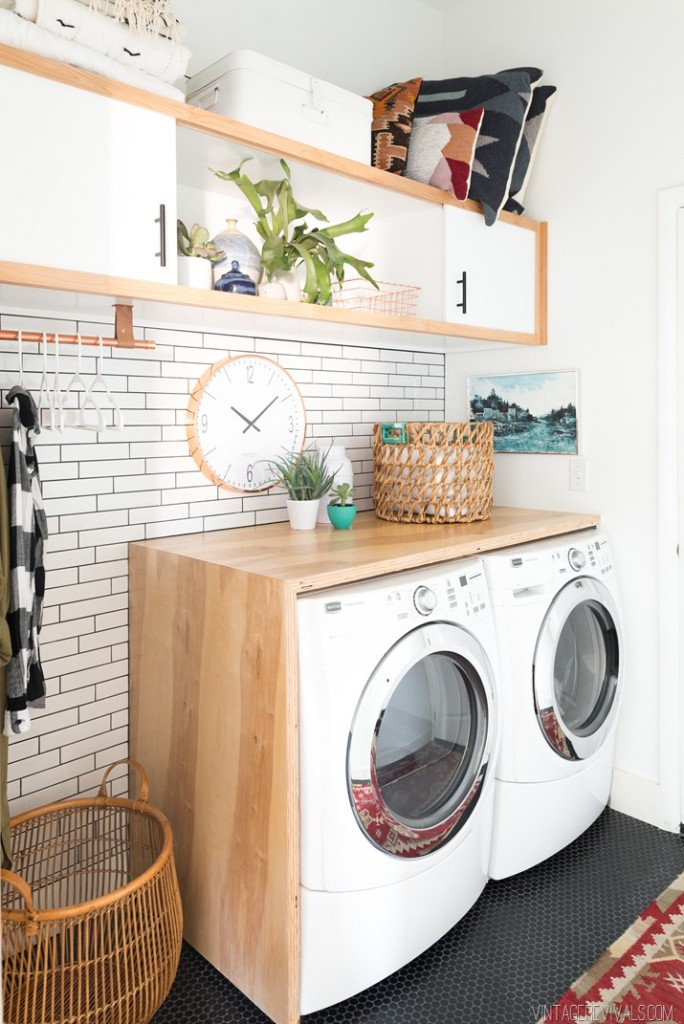 Amazing Laundry Room Makeover by Vintage Revivals