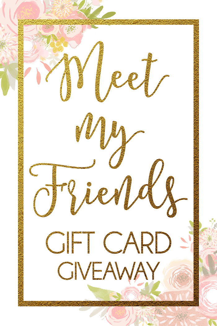 Meet My Friends Gift Card Giveaway | Win a $500 Gift Card to the store of your choice!