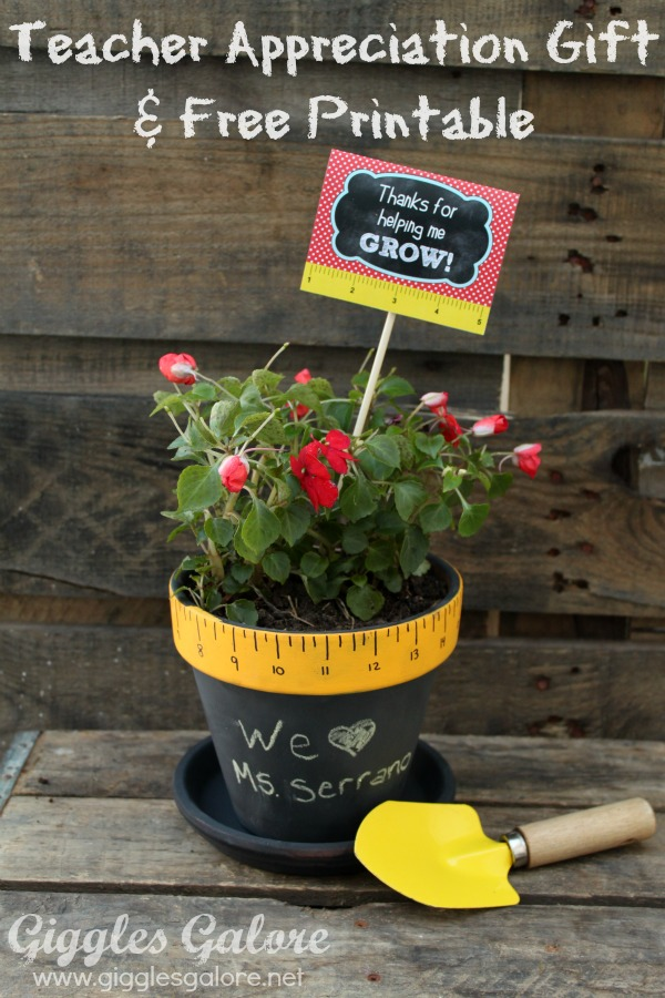 Teacher Appreciation Flower Pot | Giggles Galore