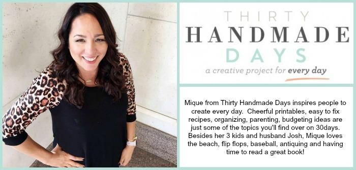 Thirty Handmade Days Creative Blog info