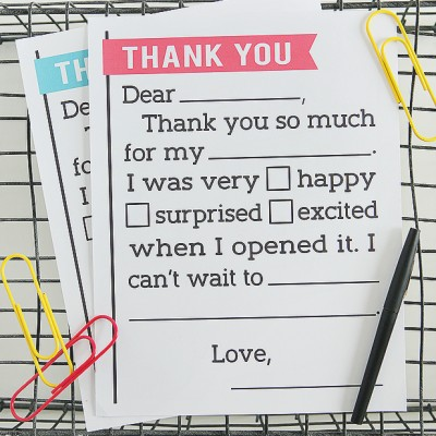 Thank You Letter for Kids