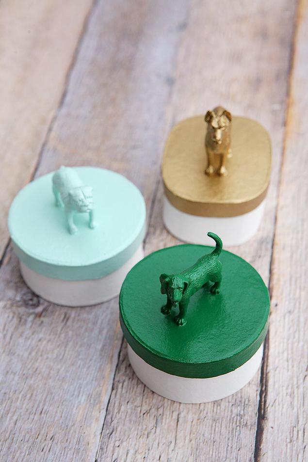 DIY Puppy Dog Trinket Boxes | Dog Crafts