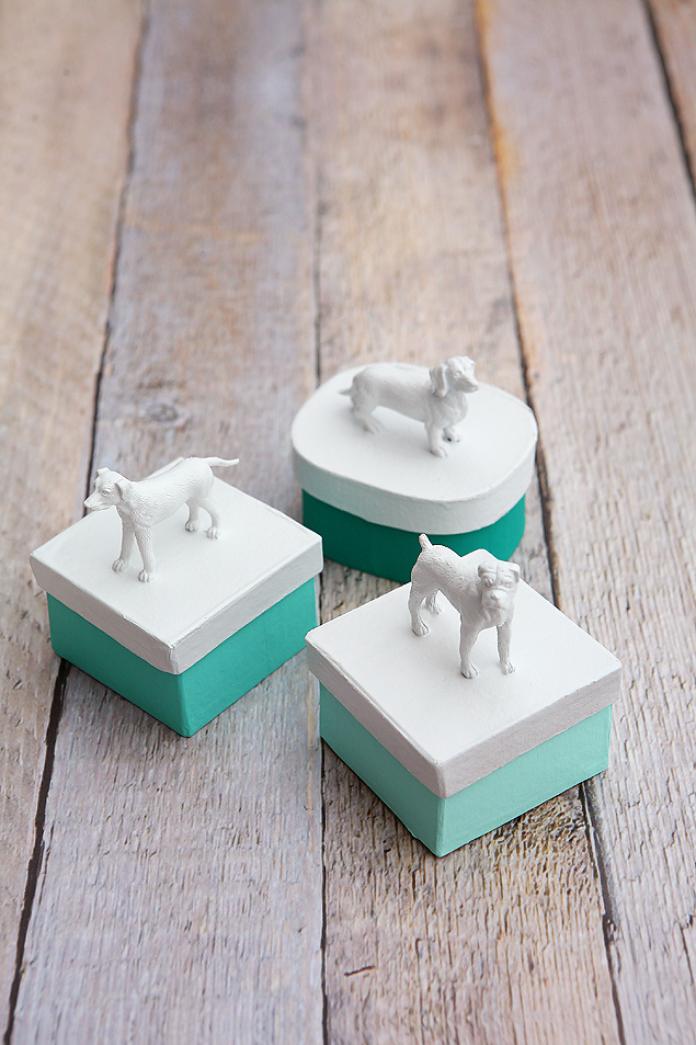 DIY Puppy Dog Trinket Boxes | Dog Crafts