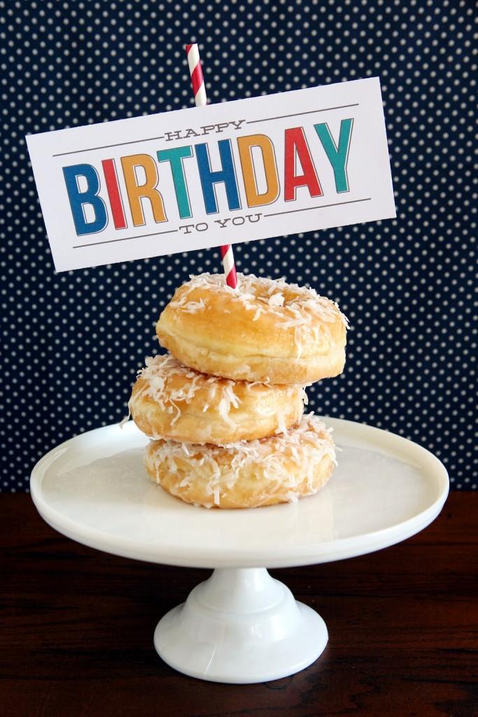 Happy Birthday Treat Printable