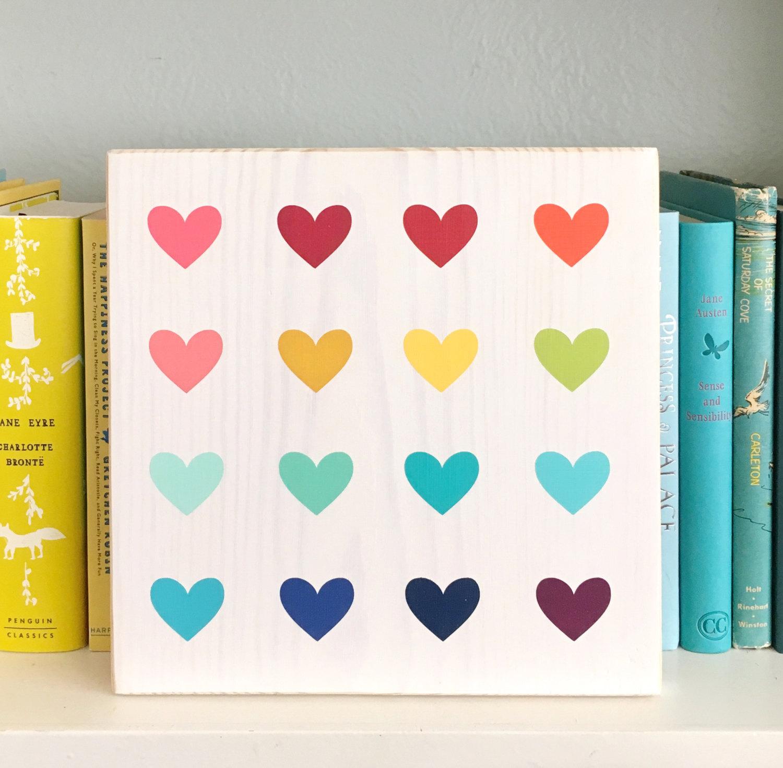 jas rainbow heart sign