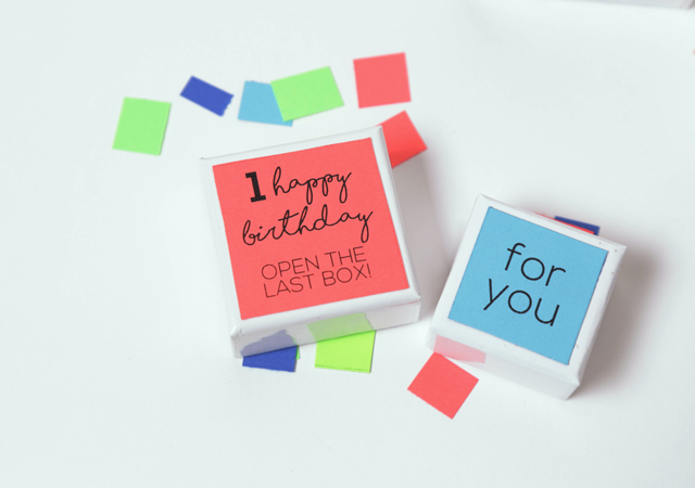 Birthday Countdown Gift Box | Includes the Free Birthday Printables