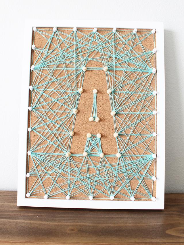 Corkboard String Art