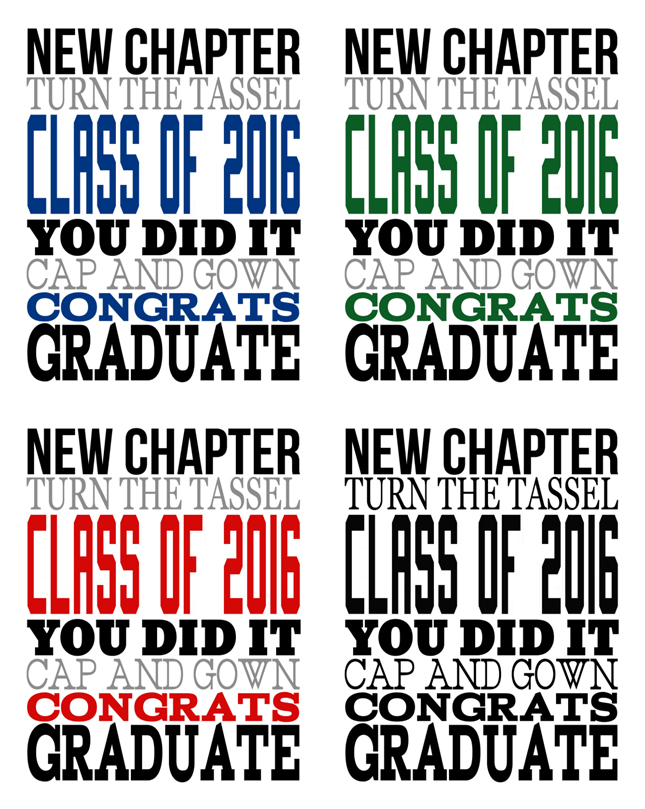 2016 Graduation Subway Art | Free printable art perfect for graduation parties!